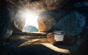 Empty grave Christ has risen!
